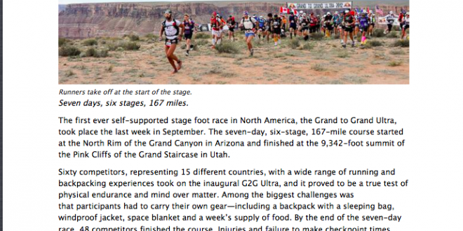 Competitor Magazine: G2G Ultra – Blood, Sand & Cheers by Payge McMahon